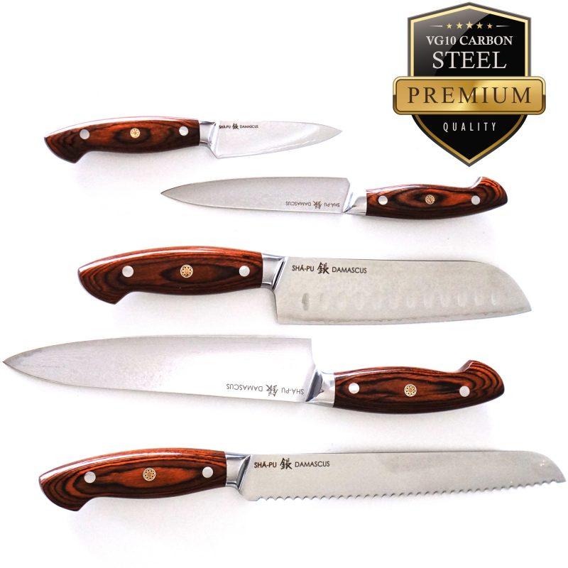 Sha-Pu-Knives-5-set-Ergo-Redwood
